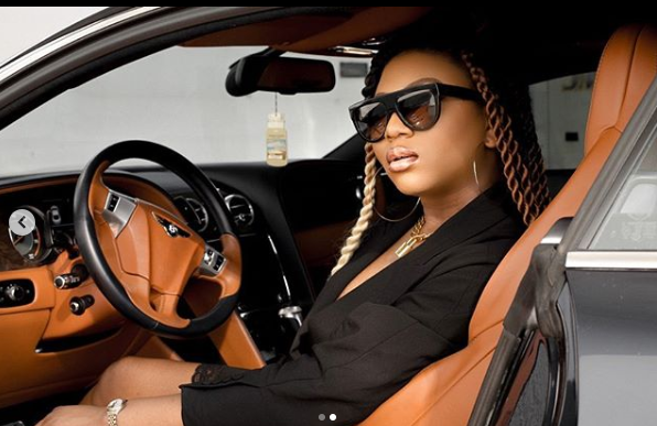 5e469a3caaeff - TV Personality, Stephanie Coker Buys Herself A Bentley (Photo)