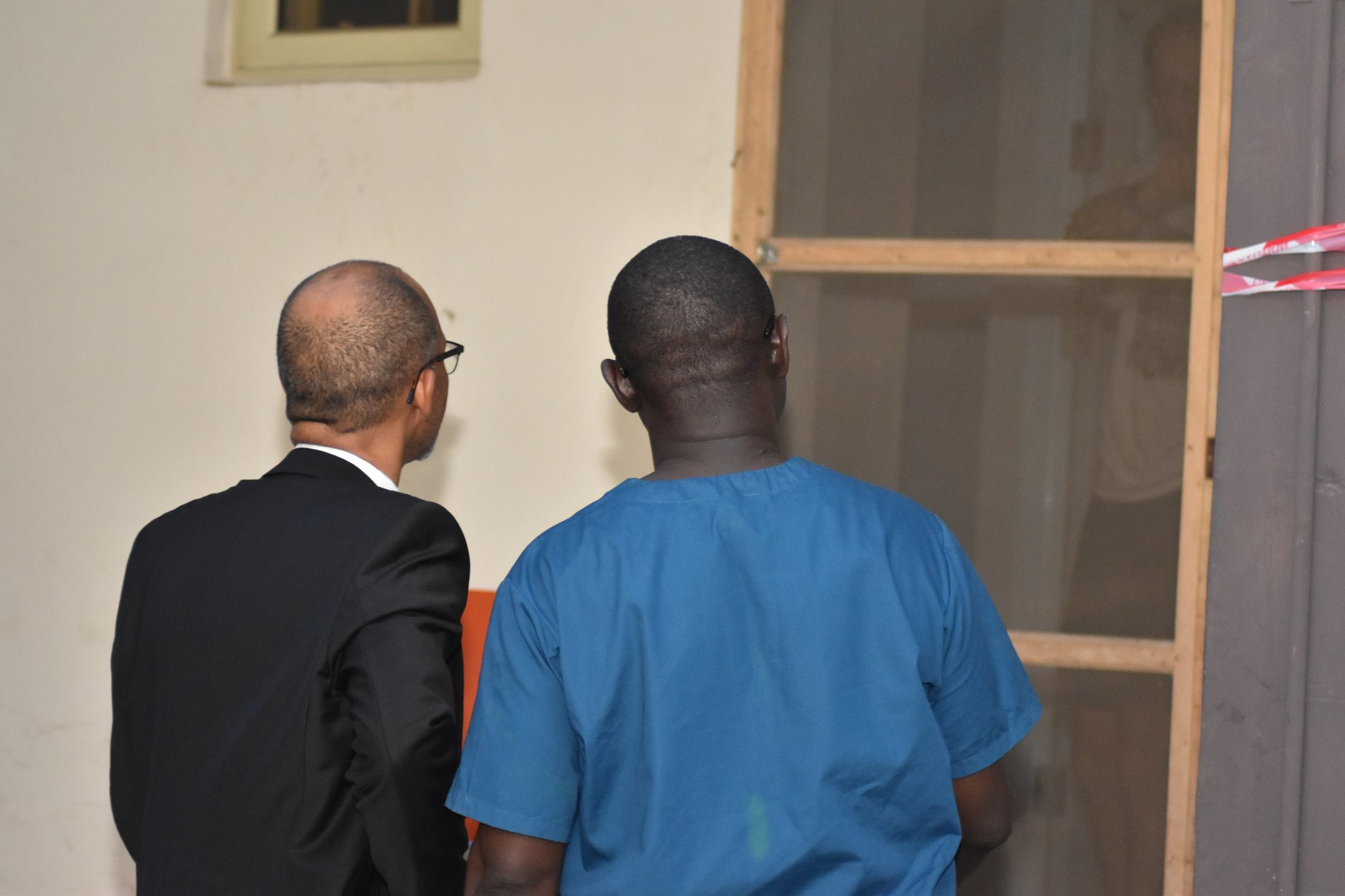 Prof. Akin Abayomi during his visit to the Mainland Infectious Disease Hospital