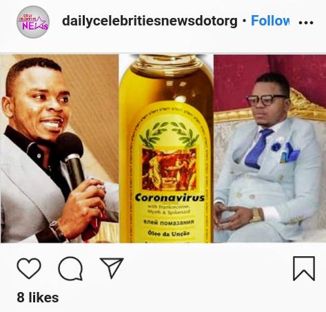 Founder of Coronavirus Anointing Oil, Bishop Angel Obinim