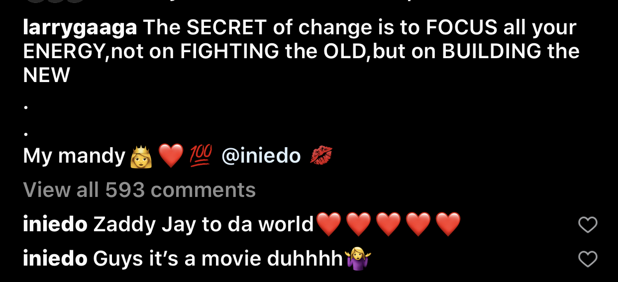 Ini Edo's comment on the post