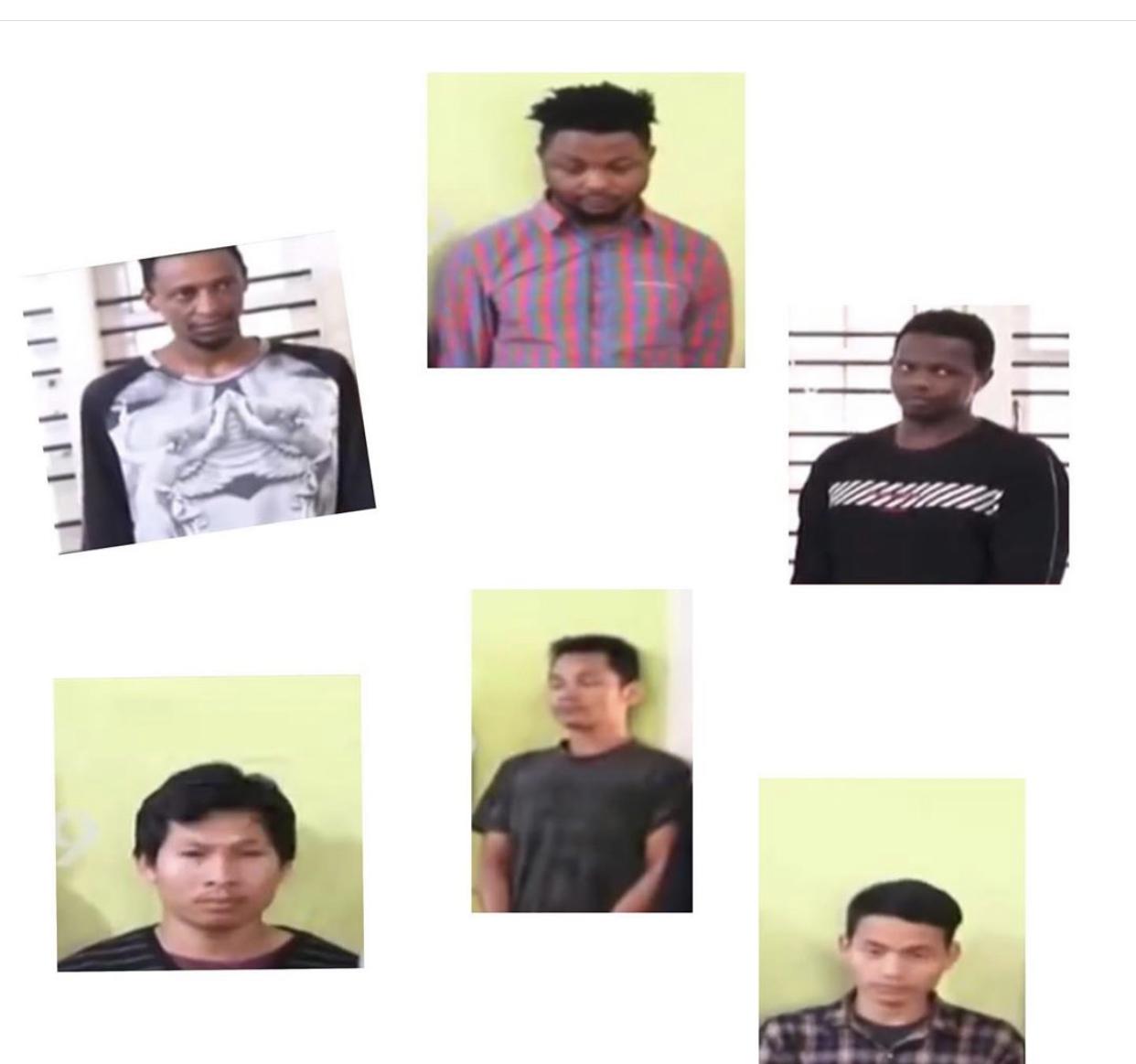 The six men