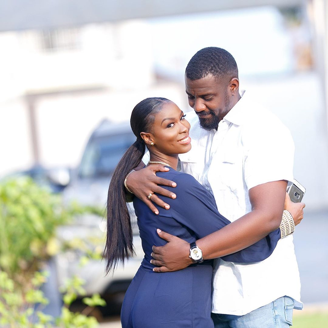 John Dumelo and wife Gifty