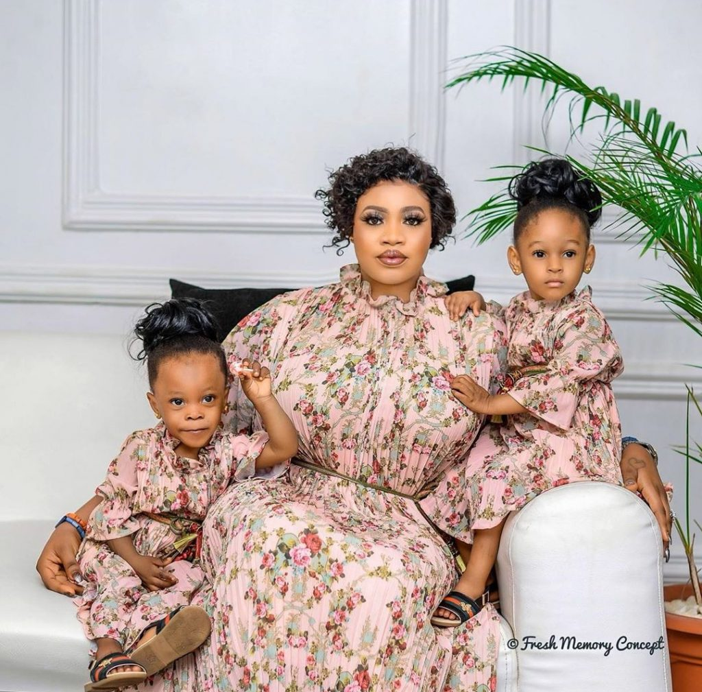 Olori Omoh and her kids