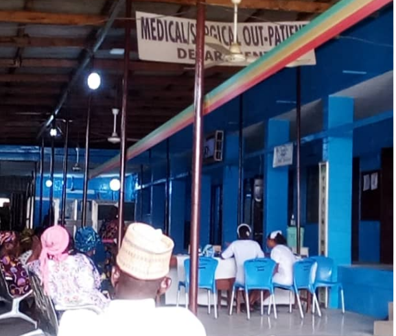 Some patients waiting to see a doctor at Ogun State hospital