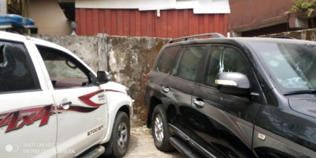 Vandalised cars