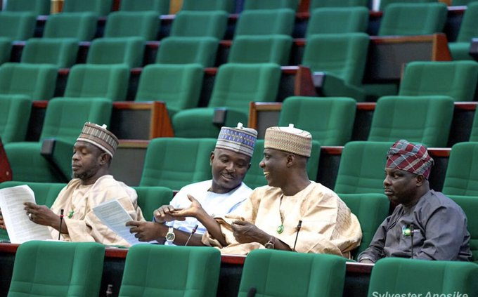 Akin Alabi and his colleague at the national Assembly