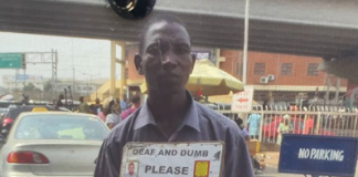 Photo of a deaf and dump beggar