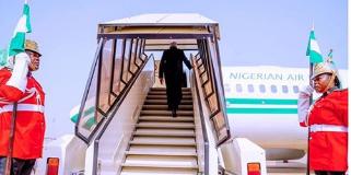 President Muhammadu Buhari enroute Addis Ababa