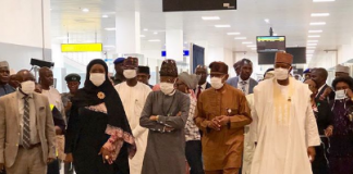 Nigerians wearing protective nose mask against coronavirus