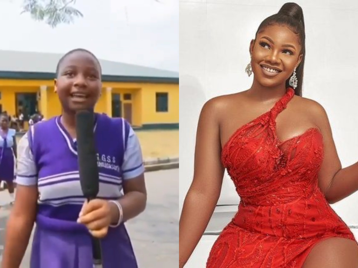 Image result for Schoolgirl Expresses Excitement After Meeting Tacha (Video)
