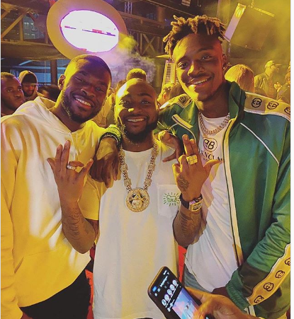 Davido, Fikayo Tomori And Tammy Abraham