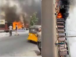 Fire Outbreak in Ajah