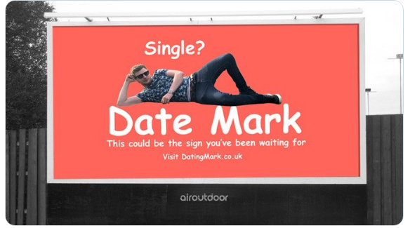 Man Advertise Himself