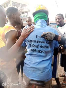 The Nigerian man embarking on a journey to Saudi Arabia from Jos, Plateau state