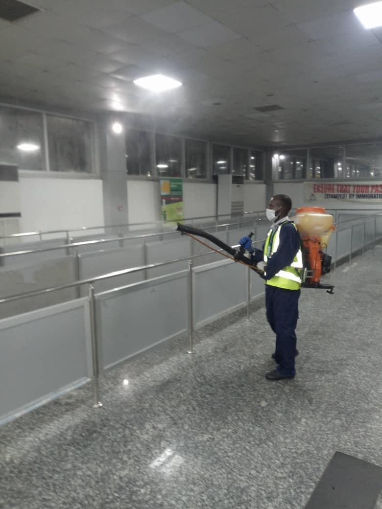 The exercise ongoing at the Murtala Muhammed International Airport