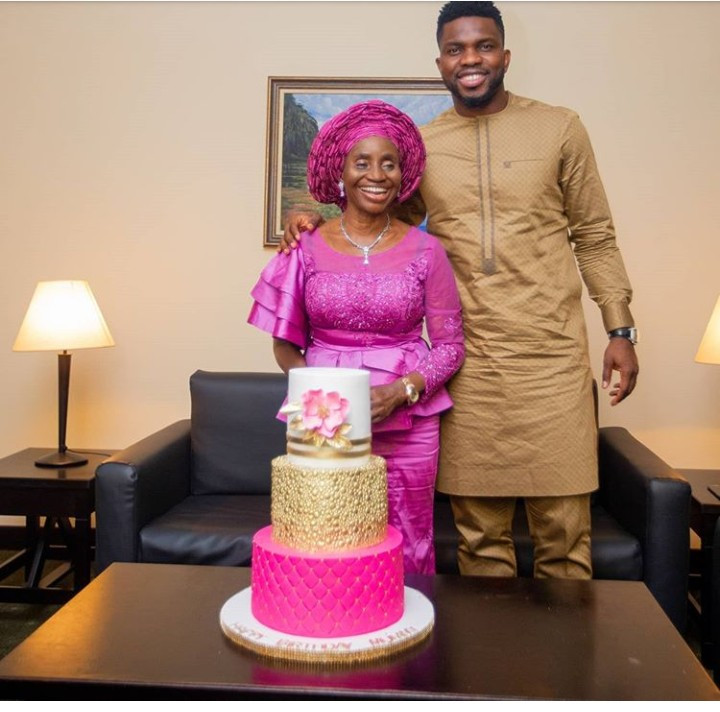 Joseph Yobo and mum