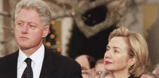 Bill Clinton and his wife, Hilary Clinton