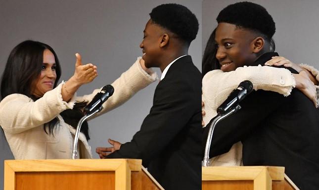 Meghan Markle and Aker Okoye