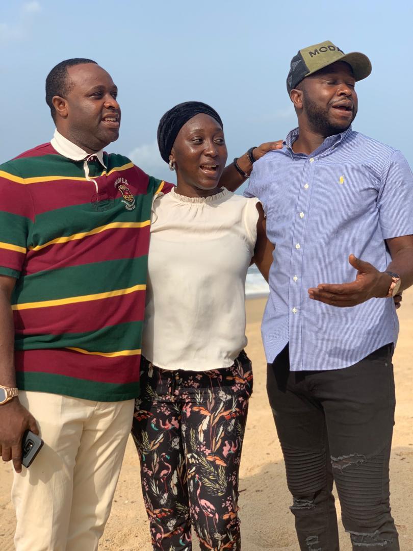 Femi Adebayo and his siblings