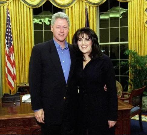Bill Clinton and his secretary, Monica S. Lewinsky