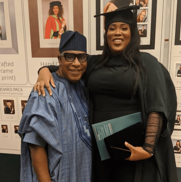 The actor and his daughter, Tobi