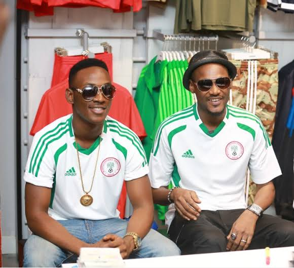 2face Idibia and Dammy Krane
