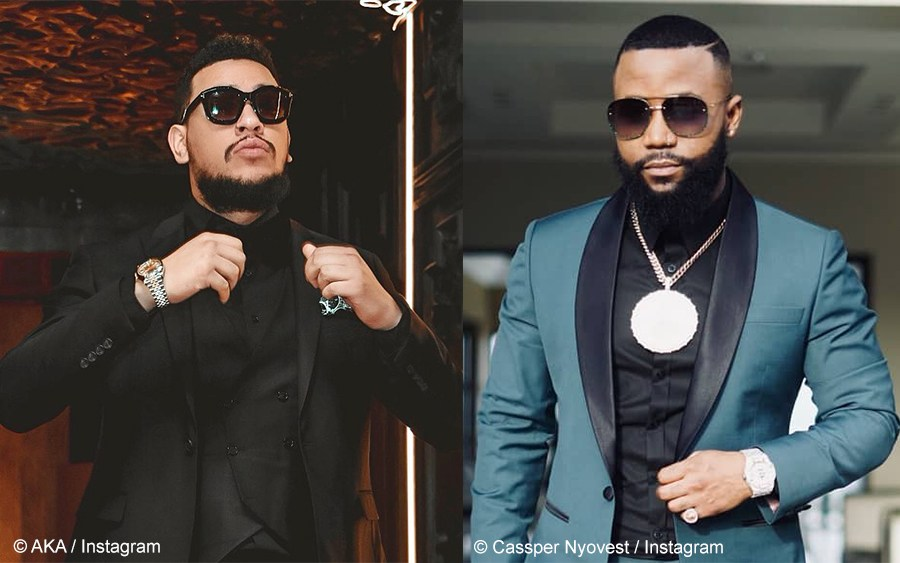 Rappers AKA and Cassper Nyovest