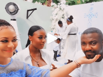 Nadia Buari, John Dumelo and wife