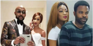 Photo collage of Banky W and Wife, Gabriel Afolayan and wife