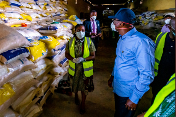 Bags of rice for Lagos residents