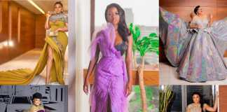 Nigerian celebrities' look to the AMVCA