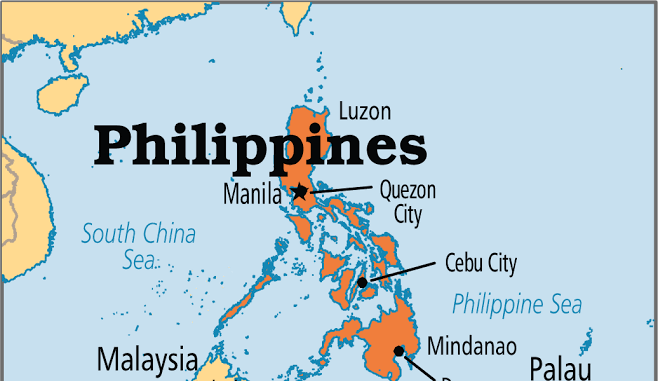 Phillipines on map
