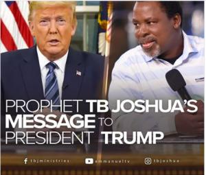 TB Joshua and American president Donald Trump
