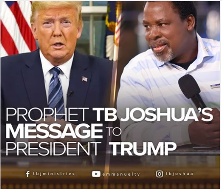TB Joshua and American president Donald Trump