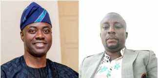 collage photo of Seyi Makinde and Muritala Olajide Adigun