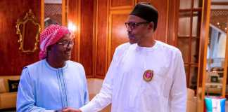 Umaro Sissoko Embalo and president Buhari