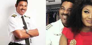 Omotola Jalade-Ekeinde and her husband, Captain Matthew