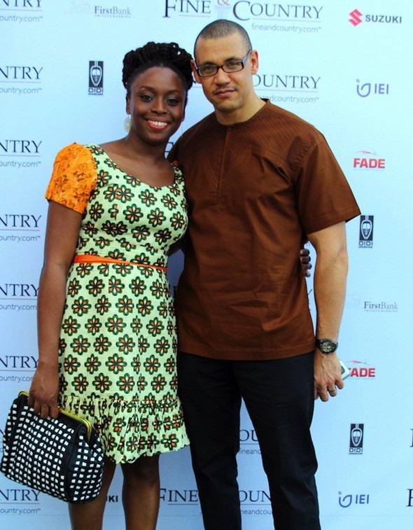 Chimamanda Adichie and husband
