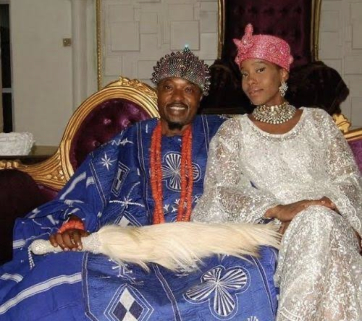 Olori Chanel Chin and Oba Abdulrasheed Adewale Akanbi