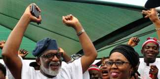 Rotimi Akeredolu and wife