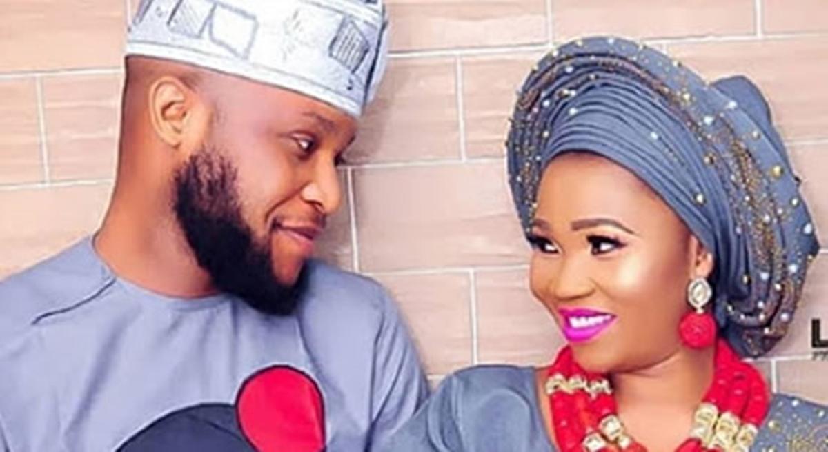 Actress Yewande Adekoya and husband