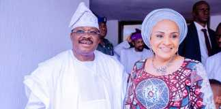 Ajimobi and wife