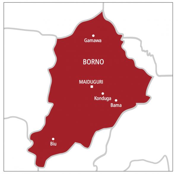 Borno on map
