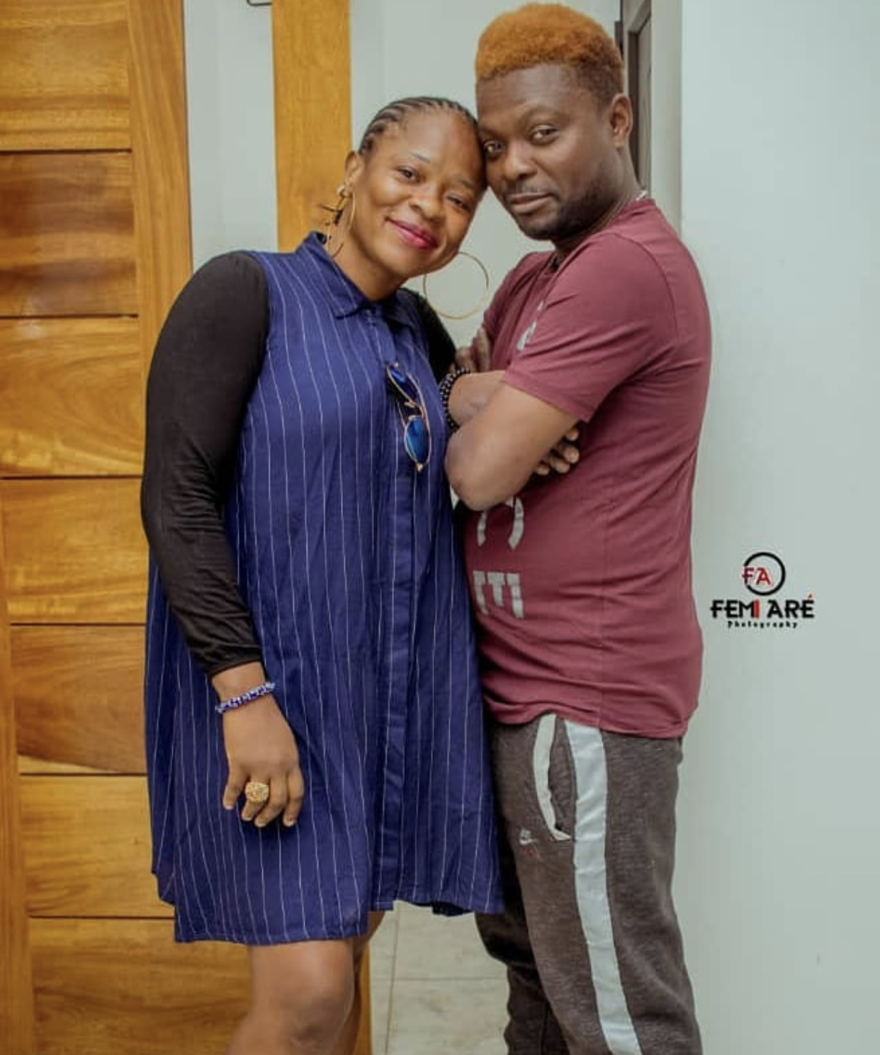 Kunle Afod and his wife