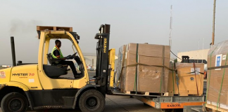 A shipment of ventilators & other essential medical supplies procured by the United Nations System in Nigeria