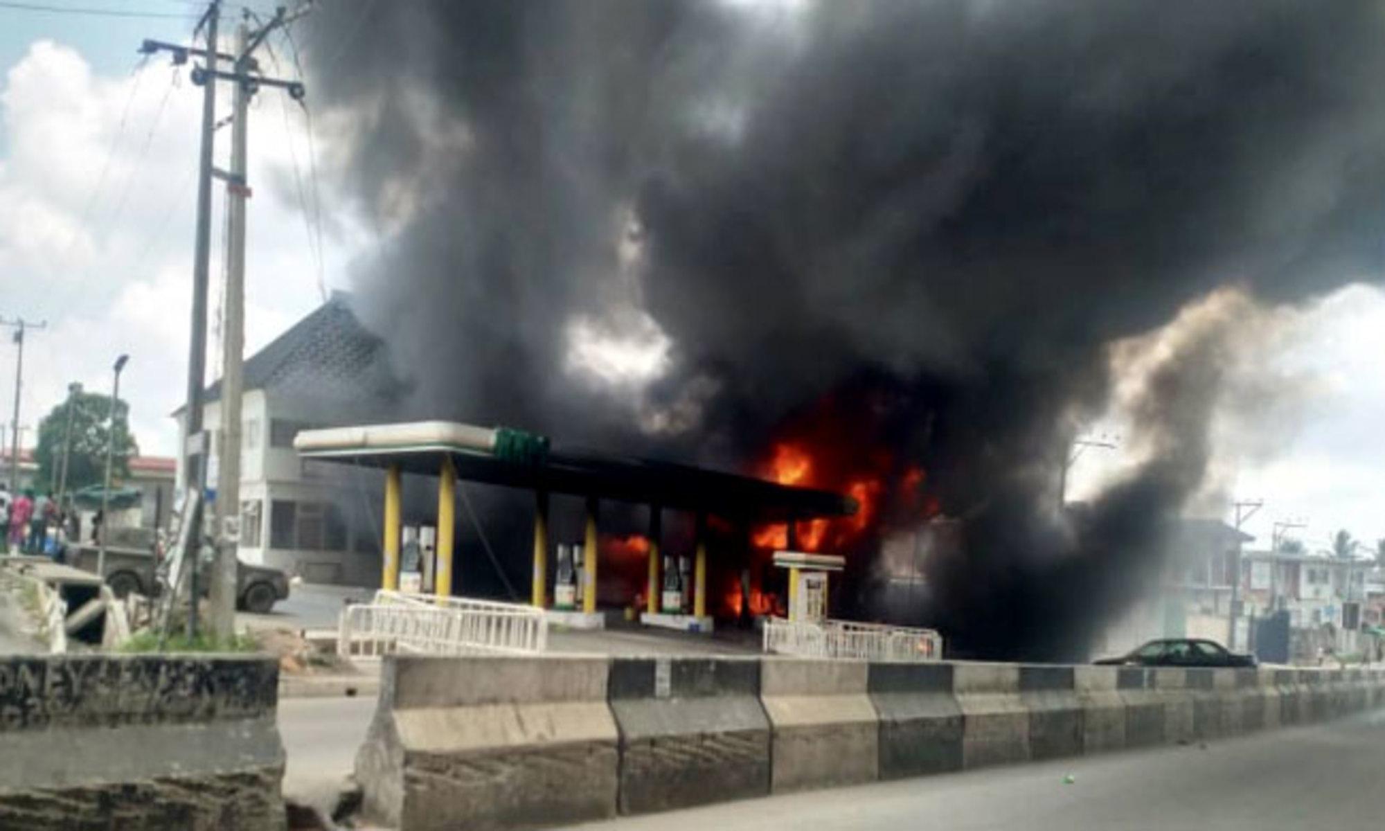 NNPC Ogba Station on fire