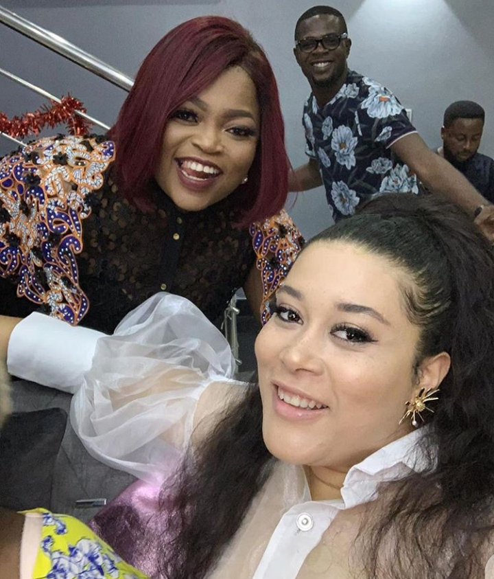 Photo of Aduni Ade, Funke Akindele and JJC