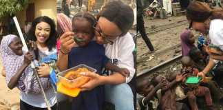 Tonto Dikeh feeds the less privilege