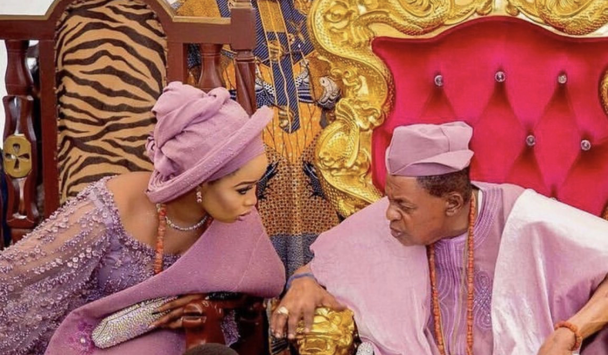 Olori Badirat Ajoke and Oba Lamidi Adeyemi