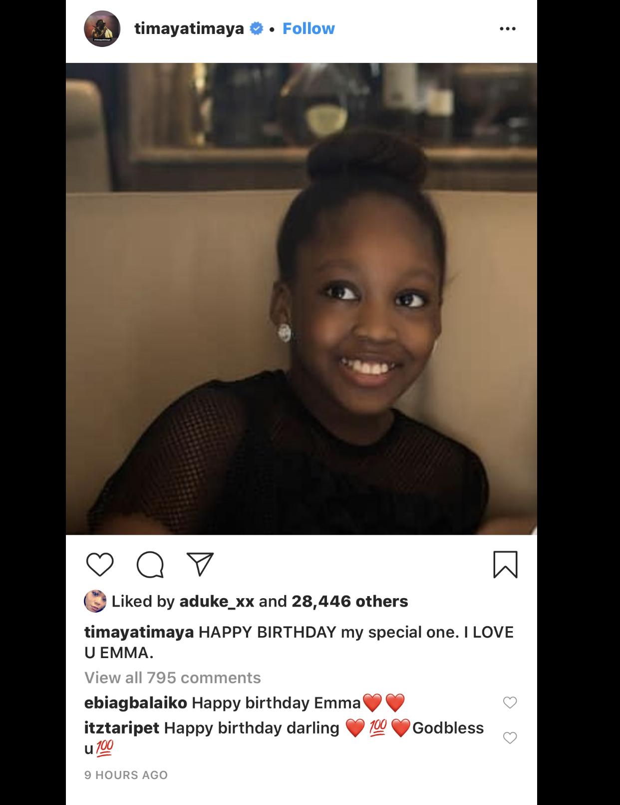 The singer's post